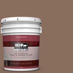BEHR Premium Plus Ultra 5 gal. #N190-6 Nut Brown Matte Interior Paint