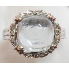 4.780 Grms Designer Sterling Silver Ring with Natural Blue Topaz