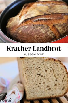 Cracked country bread from the pot-Kracher Landbrot aus dem Topf Country bread with crispy crust and juicy crumb from … - Crispy Oven Fries, Oven Baked Chicken Parmesan, Baked Chicken Tenders, Baked Chicken Wings, Fries In The Oven, Garlic Recipes, Healthy Chicken Recipes, Crockpot Recipes, Cheesy Chicken Pasta
