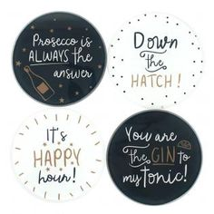 Wholesale Modern monochrome set of 4 coasters - Something Different
