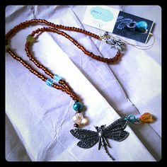Dragonfly Beaded Necklace