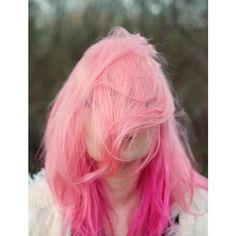 20 Pink Hairstyle Pics Hair Color Inspiration StrayHair ❤ liked on Polyvore featuring beauty products, haircare, hair color, hair, hairstyles and pink