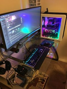 Post with 0 votes and 35 views. Finally back into pc gaming after a few years hiatus Gaming Computer Setup, Simple Computer Desk, Gaming Room Setup, Pc Setup, Bedroom Setup, Gaming Station, Game Room Design, Custom Pc, Gamer Room