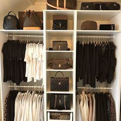 Walk In Closet Ideas - Do you need to whip your little walk-in closet into shape? You will certainly enjoy these 20 incredible tiny walk-in closet ideas as well as transformations for some . Master Closet, Closet Bedroom, Walk In Closet, Bedroom Decor, Interior Design Career, Decor Interior Design, Room Interior, White Wardrobe, Dream Closets