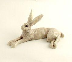 Tiny Lying Hare by Paul Jenkins Medium: Raku Ceramic Approximately x inches John Scott, Purple Candles, Cold Mountain, Small Birds, Hare, Dinosaur Stuffed Animal, Ceramics, Gallery, Medium