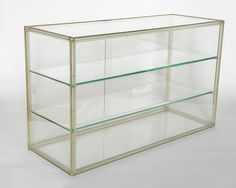 lucite frame and glass table-top display case