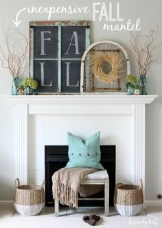 Inexpensive Fall Mantel {It's $30 Thursday} - House by Hoff
