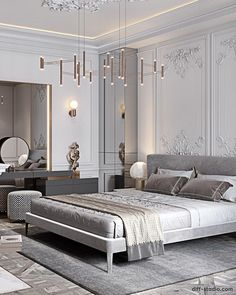 Master Bedroom Design, Home Bedroom, Master Bedrooms, White Girl Outfits, Furniture Vanity, Paris Apartments, Classic Interior, My Room, Traditional