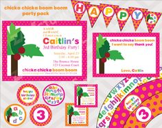 Chicka Chicka Boom Boom Printable Party Pack by zapparty on Etsy
