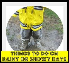 15+ Fun Things to Do With #Kids on Rainy & Snowy Days