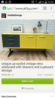 i adore this etsy sideboard