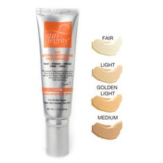 Suntegrity 5-in-1 Tinted Moisturizing Face Sunscreen. KS uses