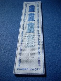 Disappearing Tardis bookmark cross stitch pattern - it even has the sound of the Tardis on it!