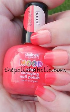 The PolishAholic: Claire's Excited/Bored Mood Polish - so cool