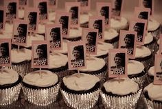 Ideas for my Mom's 70th Birthday Party - personalized cupcakes.