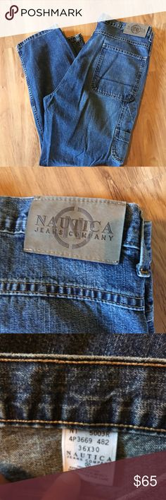 NWOT Men's Nautica Jeans Cargo Style Never Worn Relaxed Fit Boot Cut Nautica Jeans Bootcut