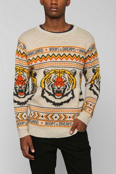 Vanguard Hoops & Dreams Tiger Knit Sweater #urbanoutfitters