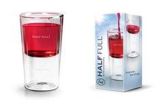 glass half full, literally! so cool!