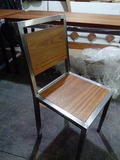 Welded Furniture, Iron Furniture, Steel Furniture, Custom Furniture, Woodworking Furniture, Metal And Wood Chairs, Wood And Metal, Office Furniture Design, Diy Furniture Projects
