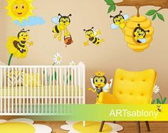Wall sticker Bees kingdom (3519f)