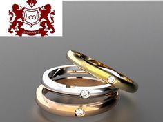 Jonc en or avec diamant solitaire Gold Jewelry, Jewelery, Handmade Jewelry, White Gold, Wedding Rings, Engagement Rings, Bangle Bracelet, Engagement Ring, Diamond