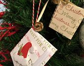 Origami Book ornaments, tags
