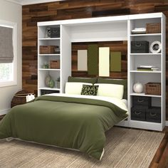 """Bestar Pur 109"""" Full Wall Bed with 2 Piece Storage Unit in White - 26893-17"""