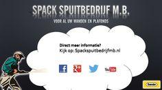 Visitekaartje Spackspuitbedrijf M.B.