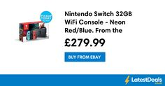 Nintendo Switch 32GB WiFi Console - Neon Red/Blue. From the Argos/Ebay Shop, £279.99
