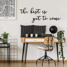 Acrylbuchstaben The best is yet to come Decor, Furniture, Home Decor Decals, Wallpaper, Wall, Home Decor, Office Desk, Entryway, Entryway Bench