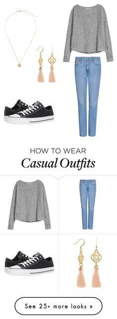 """""""Casual school"""" by kayden312237 on Polyvore featuring MSGM and Converse"""