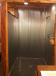 Barn Tin Shower
