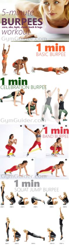 The Supreme Fat-Blasting Burpee Workout With 7 Burpee Variations - If you're looking to lose weight, tone and eradicate calories, then look no further. With this perfect burpees article, you can jump your way to a toned body in no time! Burpees are usually hated, but with the correct form and variety, you will find them embracing.The burpee is a great cardiovascular exercise and can be performed as a home workout or at the gym. This exercise is perfect for achieving a toned, strong butt and…