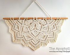 Macrame mandala circle light purple wall hanging large Modern macrame boho decor, wall art, dream catcher alternative, vegan decor - Best Picture For diy face mask For Your Taste You are looking for something, and it is going to t - Diy Macrame Wall Hanging, Macrame Art, Macrame Projects, Macrame Knots, Macrame Mirror, Macrame Curtain, Hanging Plant, Tapestry Wall Hanging, Sewing Projects