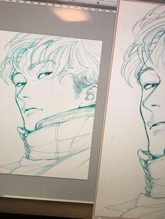Pretty Art, Cute Art, Manga Art, Anime Art, Art Sketches, Art Drawings, Character Art, Character Design, Korean Art