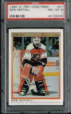 PSA 8 1990 Opeechee OPC Premier NHL Hockey Card Ron Hextall #41 Philadelphia Flyers Sold And Photographed By Thegoodoldboys by Opeechee. $14.00. Buyer gets best looking card available if more than card is available.      ***For anyone that wants to buy more than 1 from me, Thegoodoldboys***  Amazon won't let me fix the shipping, so what has to be done is when you buy multiple items from me, you will get charged shipping for each one.  What I can do is then refund you the e...