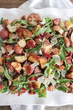 warm-roasted-potato-salad-with-pancetta-sun-dried-tomatoes-and-arugula