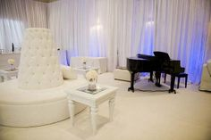 Crystal and Crates Vintage Rentals has the banquette seating