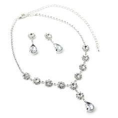 Silver Crystal Teardrop Dangle Earrings & Flower Shape Y Shape Necklace Jewelry Set Topwholesalejewel,http://www.amazon.com/dp/B00D7QIRIQ/ref=cm_sw_r_pi_dp_DiTFtb0F39A0JAB8