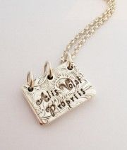 Story Book Pendant Necklace - text only
