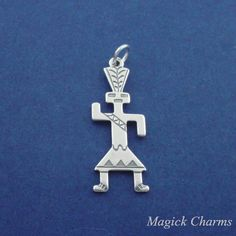 NATIVE AMERICAN INDIAN .925 Sterling Silver Charm by magickcharms, $8.95