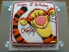 Birthday Cake Hawiian Beach Theme | Tigger Theme Birthday Cake Cakes Pictures