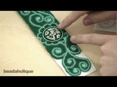 How to Do Bead Embroidery Around Free-Formed Shapes - Eva Maria Keiser