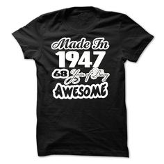 awesome Awesome - 1947 - Made In - JDZ1  Check more at http://doomtshirts.xyz/hot-tshirts/awesome-1947-made-in-jdz1-order-now