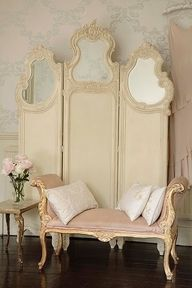 DRESSING SCREEN AND LOVELY BENCH