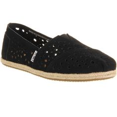 Toms Seasonal Classic Slip On ($31) ❤ liked on Polyvore featuring shoes, flats, morrocan black suede, women, black shoes, toms shoes, espadrilles shoes, espadrille flats e flat slip on shoes