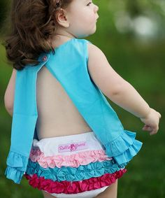 Take a look at this White Rainbow Ruffle Diaper Cover - Infant & Toddler by RuffleButts on #zulily today!