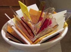 Awesome glass fusing ideas. pot melts,watercolour glass