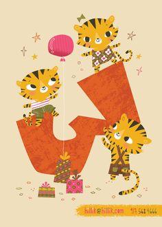 Happy Birthday Wallpaper, Happy Birthday Cards, Birthday Greeting Cards, Birthday Wishes, Birthday Messages, 3rd Birthday, Tiger Illustration, Tiger Drawing, Happy Birthday Beautiful