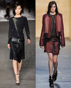 leather wrap skirts